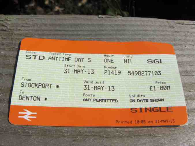 Denton, Gtr Manchester - one of Britain's rarest rail tickets