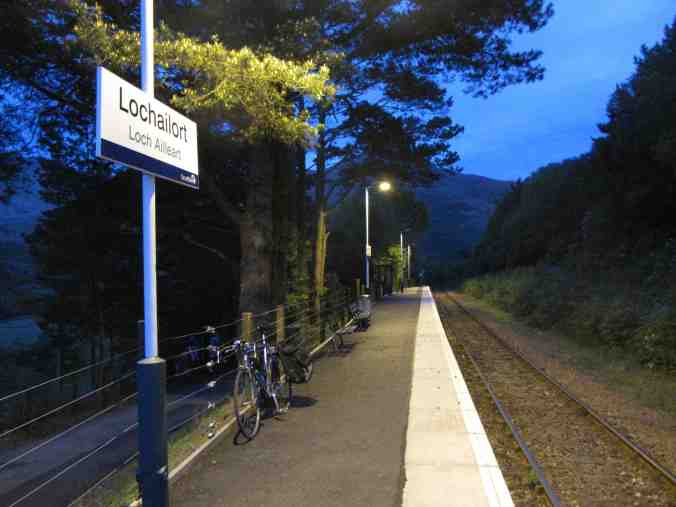 Lochailort, Inverness-shire - waiting for the late night train