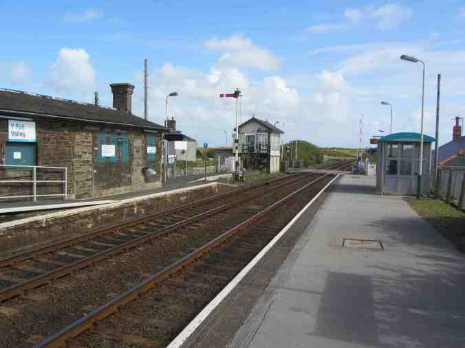 Y Fali:Valley, Anglesey - with signal box